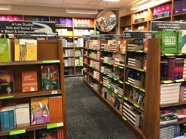 Campus Books at Waikato University